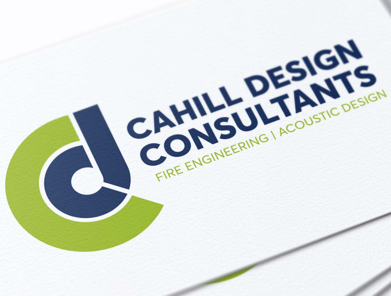 Image showing a close up of a logo on a business card