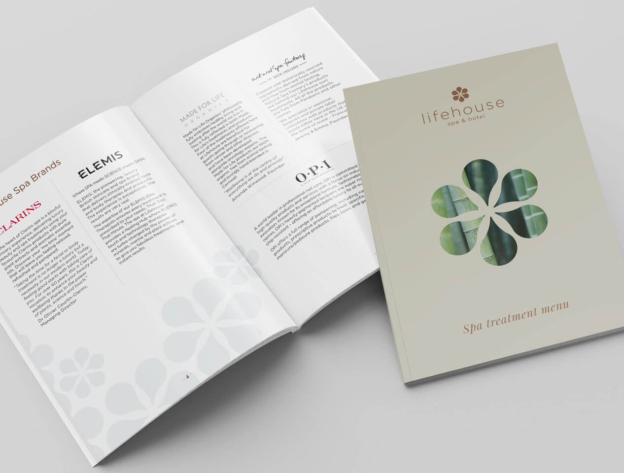 Image showing cover and internal pages of Lifehouse treament menu